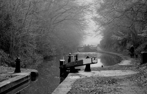 Sheila Morris Misty morning at Tyrley locks
