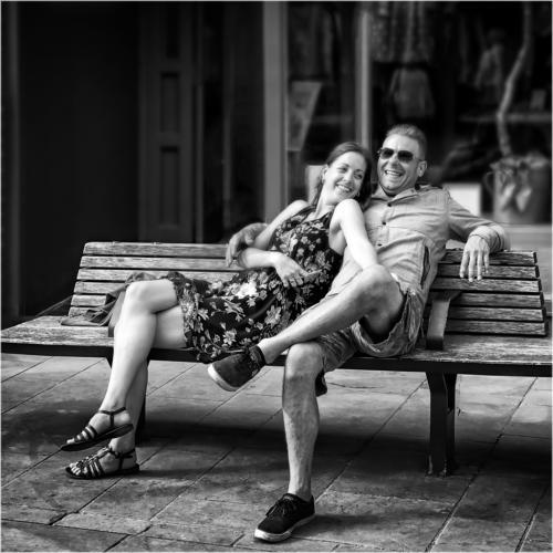 04 Advanced 4th Place Couple Sitting on Bench by Edward Kosinski