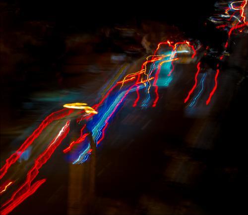 09. Intermediate - Third Place. Car Reflections Jackson Pollock Style