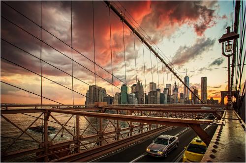 03 Sunset Over Manhattan; Edward Kosinski